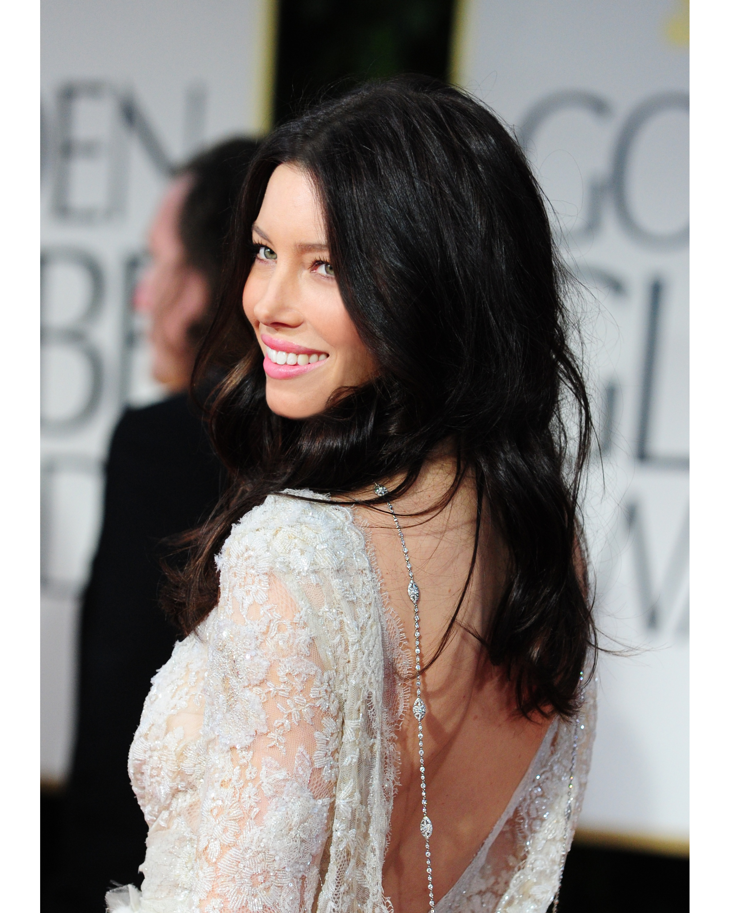 JESSICA BIEL AT THE 2012 GOLDEN GLOBE AWARDS