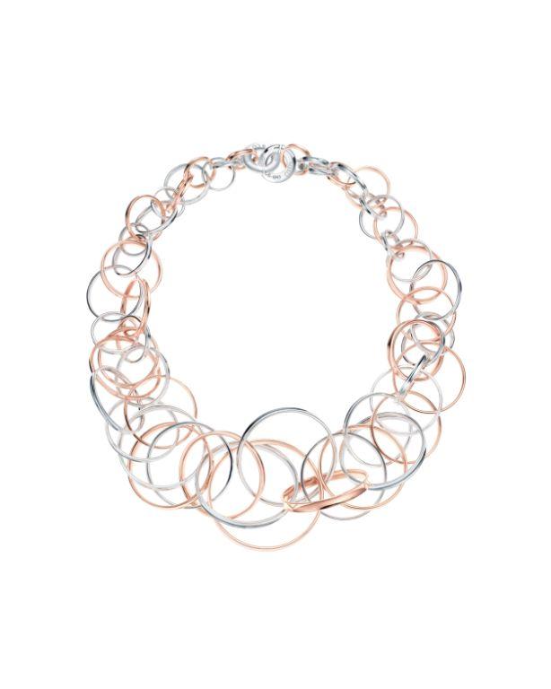Tiffany 1837 Halskette mit verschlungenen Ringen, RUBEDO-Metall und Silber, 7.730 Euro