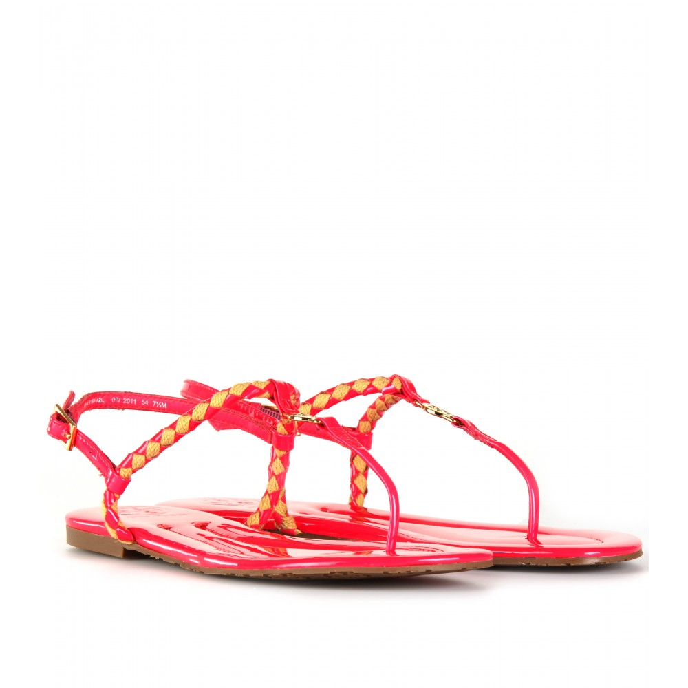 tory burch neon sandals